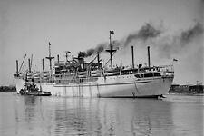 NELLY Migrant ship at Melbourne circa 1949-53 modern digital Photo Postcard