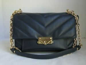 Michael Michael Kors Admiral  CeCe Medium Chain Shoulder Leather Bag Handbag