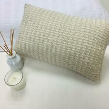 Luxuriously Soft Knitted Cushion Cover Home Knit 30x45cm - Natural Biscuit
