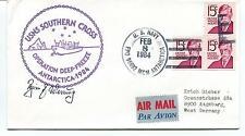 1984 USNS Southern Cross Operation Deep Freeze Navy Polar Antarctic Cover SIGNED