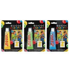 3 X globos de plástico Mágica Juguete de modelado-Amarillo Verde y Azul 15026