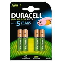 4 x Duracell AAA 850 mAh Rechargeable Ultra Batteries NiMH ACCU LR03 HR03 Phone