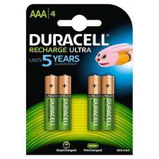 4 x Duracell AAA Rechargeable 850 mAh Ultra batteries NiMH ACCU LR03 HR03 Téléphone
