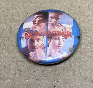New Order Rock Badge 1980s Original Red Moon