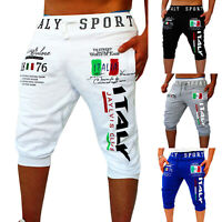 Men Summer Casual Sports Jogger Shorts Beach Cropped Pants 3/4 Knee Gym Trousers