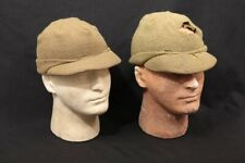 Lot 2x Wwii Us Army Military Surplus Uniform Od Green Wool Combat Jeep Caps Hats