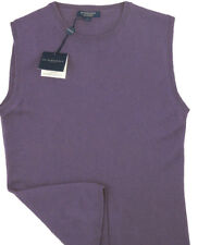 NEW! Burberry Womens Gorgeous Pure Cashmere Sweater Vest!  Small  *ITALY*