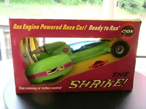 """Vintage Cox """"The Shrike"""" Gas Engine Plastic Tether Car In The Original Box"""