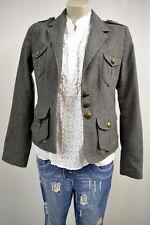 H&M Blazer Jacke Eur.38 mit Wolle in Grau TOP