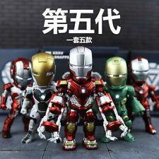 Avengers 5PCS SET LIGHT ACTION FUNCTION IRON MAN RED SNAPPER FIGURE BOXED