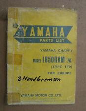 Yamaha LB50 IIAM Chappy Parts List stand 1976_Ersatzteil Liste_Katalog_Heft