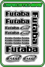 FUTABA RC STICKER SHEET A5 R/C PLANE CAR BUGGY HELI REMOTE CONTROL DECAL BLACK