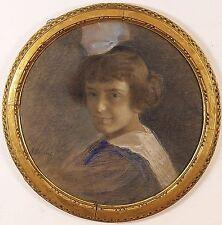 Francesco Fanelli (Italian,1863-1924) Original Pastel Painting  Signed