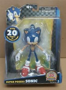 Sonic The Hedgehog 20th Anniversary Super Posers Sonic Figure New Jazwares 2011