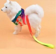 Hundegeschirr Katzengeschirr Verstellbare mit Leine Regenbogenfarben mit Griff