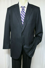 TOM JAMES HOLLAND & SHERRY Navy Tonal Stripe Suit 44 / 46L? Executive Collection