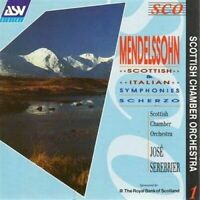 Mendelssohn - Symphonies Nos. 3 and 4 (Serebrier, Scottish Co) (CD) (1990)
