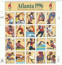 Stamp Us Sc 3068 Sheet 1996 Summer Olympic Games Atlanta Running Diving Mnh