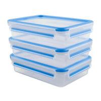 Emsa Clip & Close 2.0 Frischhaltedose 3er Set Frischhalte Box Transparent 1.2 L