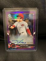 2018 BOWMAN CHROME DRAFT JONATHAN INDIA PURPLE REFRACTOR AUTO #/250 RC