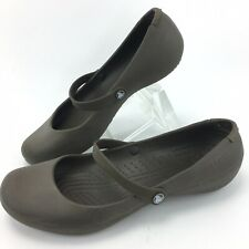CROCS Women's Brown ALICE Mary Janes Shoes Size 9