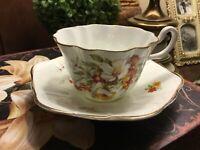 Royal Stuart-Spencer Stevenson-Cup & Saucer-Bone China/Hand Painted-England-
