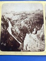 Stereoview Card Photo FALLS OF CEUNANT MAWR, LLANBERRIS