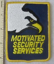 MOTIVATED SECURITY SERVICES PATCH Vintage ORIGINAL