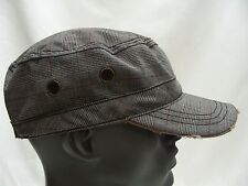 GRAY PLAID - ONE SIZE - ADJUSTABLE CADET STYLE CAP HAT!