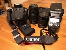 Canon EOS Rebel T6 Digital Camera with 2 Zoom Lenses & Canon 580EXii Flash