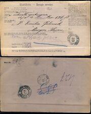 POLOGNE / POLAND / POLEN 1903 Advice of receipt (Rückschein) NS Bahnhof/NOWYSACZ