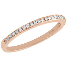 Ladies Right Hand Cocktail Ring 1/8 Ct. 10K Rose Gold Diamond Slender 1 Row
