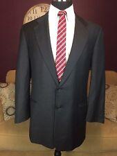 Hickey Freeman Loro Piana Classic 110's Wool Suit Jacket Sport Coat 44L Charcoal