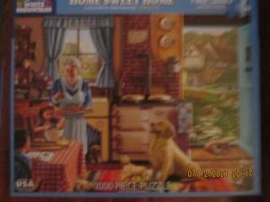 White Mountain PUZZLE 1000 Piece Home Sweet Home COMPLETE