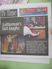 DAVID LETTERMAN - DREW BARRYMORE - BILL MURRY MAY 17 2015 TV TIME GUIDE MAGAZINE