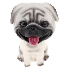 Adorable Resin Shaking Head Nodding Dog Puppy Doll Car Dash Decor - Pug