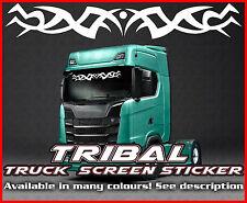 Camión Camión Etiqueta engomada del parabrisas tribal vidrio ventana de cabina ambiente MAN DAF Scania Iveco