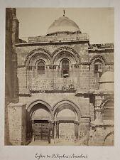 Saint Sépulcre Jérusalem Photo Peter Bergheim Vintage albumen ca 1860