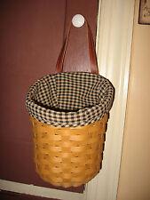NEW Longaberger Khaki Check Fabric Liner 4 Your Large Foyer Basket NIOB