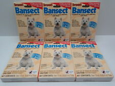 Lot of 6 Sergeant's Bansect Squeeze-on Dog Flea & Tick Control 7lbs To 33 lbs