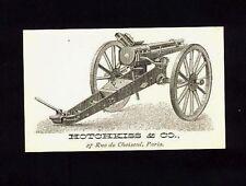 Rare HOTCHKISS REVOLVING CANON Advertising Card