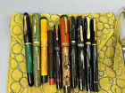 vintage 10 Fountain pen lot Parker carters eversharp dunn pelikan 14K gold tips