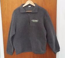 Malden Mills Polar Fleece Pullover Shirt Kawasaki Team Green Size L