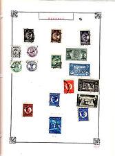 ROMANIA Old Stamps Roumanie vieux timbres sur feuiles d'albums lot 425