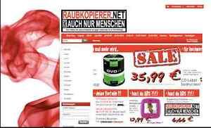 kompl. Webshop: Raubkopierer.net |Domain, Shop & Design