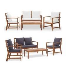 Garden Lounge Set Patio Chair Table Set Outdoor Bench Sofa Cushion Furniture Set