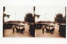 Voiture ancienne Genève Plaque de verre Stereo Vintage 7x13 cm 1923