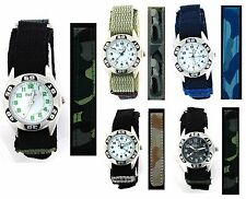 Reflex Childrens / Kids / Easy Fasten Army Camouflage Watch Xmas Gift for Boys