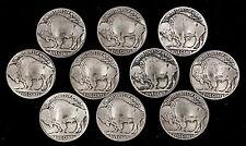 10 Buffalo Nickel Concho Buttons - B - BIN