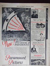 1927 Paramount Pictures Five New Movies Advertisement